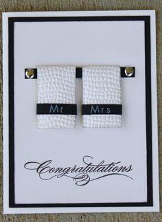Mr & Mrs Card - Weddings - Dresses, Engagement Rings, and Ideas! Homemade Wedding Cards, Wedding Cards Handmade, Handmade Birthday Cards, Greeting Cards Handmade, Homemade Cards, Diy Wedding, Card Wedding, Wedding Shower Cards, Wedding Anniversary Cards