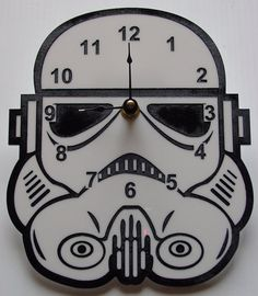 """Show your allegiance to the Galactic Empire with this stormtrooper clock. 