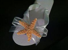 Little Girls Sugar Starfish Beach Wedding Flip by WeddingsUnique, $20.00