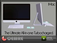 Trunk Study Collection Apple iMac by Cemre for thesimsresource.  Found in TSR Category 'Computers'