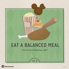 Eat a balanced meal while you are at Disneyland