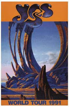 A great poster from the Yes 1991 World Tour! Roger Dean's fantasy art has been a constant throughout the band's career and is synonymous with their image! Ships fast. 11x17 inches. Need Poster Mounts.