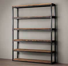 Salvaged Boatwood Single Shelving- restoration hardware