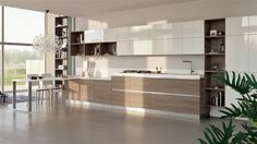 Can totally mimic this with Ikea Sofielund European Kitchen Cabinets, Contemporary Kitchen Cabinets, Contemporary Kitchen Design, Design Your Kitchen, Kitchen Cabinet Design, Kitchen Ikea, Kitchen Decor, Kitchen Living, Family Kitchen