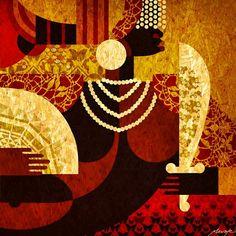 Vermelho de Oyá (detalhe) Oya Orisha, Yoruba Religion, Warrior Queen, Afro Art, Types Of Art, African Art, Black Art, Art Forms, Painting & Drawing