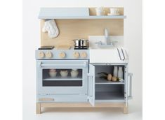 Classic Play Kitchen by Milton & Goose Wooden Play Kitchen, Kids Play Kitchen, Real Kitchen, Play Kitchens, Modern Spaces, Kid Spaces, Project Nursery, Kids Furniture, Bedroom Furniture