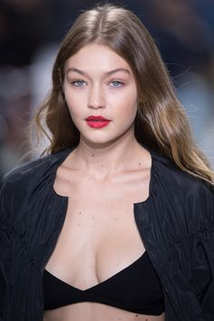Model of the moment, Gigi Hadid, goes for a bordering-on-light-brown hue with subtle blonde highlights that keep it from appearing too chocolate-y.