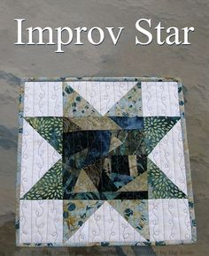 Fast and easy Improv Star quilt block There's a tutorial.