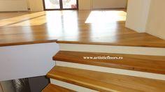 Trepte lemn masiv