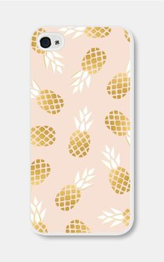Pink and Gold Pineapple iPhone 5c Case Pineapple by fieldtrip #iphone5c,