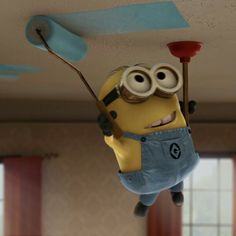 Next time I paint the ceiling, I'm either using a plunger for support or getting a minion.