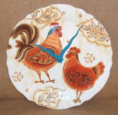 Rooster Wall Clock  Rustic Rooster Clock  by makingtimetc on Etsy, $38.00