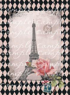 Digital Download Pink in Paris Eiffel Towe...