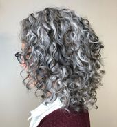hairstyles latina hairstyles kerala curly hairstyles for 60 year olds hairstyles drawing hairstyles on short hair hairstyles with edges hairstyles jasmine brown relaxed hairstyles Curly Silver Hair, Curly Hair With Bangs, Curly Hair Cuts, Curly Hair Styles, Grey Hair Over 50, Long Gray Hair, Daniel Golz, Grey Hair Inspiration, Transition To Gray Hair