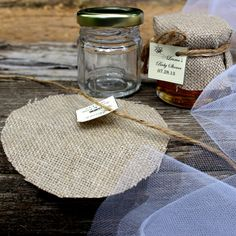 SET OF 12  honey jars wedding favors bridal by EcohausProject, $36.00