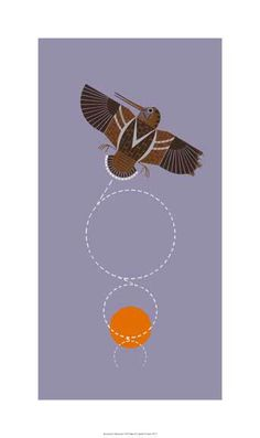 'Amorously Airborne' - by Charley Harper.-