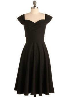 Black dress, love the silhouette and the neckline