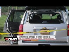 Shots fired at principal in school parking lot - YouTube