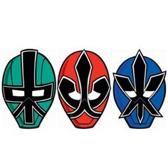 Amazon.com: Power Rangers Samurai Paper Masks (8) (Multi-colored) Party Accessory: Toys & Games