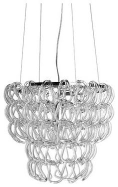Eclectic Pendant Lighting - thought this was D rings at first.