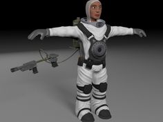Spaceman Character. This royalty free 3D model or texture is available for download now! Modeled in Zbrush and 3ds Max 2015   Features  -Rigged wit...
