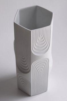 Items similar to Tall Vintage Op Art Vase - AK (Kaiser) on Etsy Bottle Design, Glass Design, Op Art, Keramik Design, Ceramic Texture, Grands Vases, Visual Aesthetics, 3d Prints, Organic Shapes