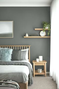 Perfect Small Bedroom Design That Maximizes Style And Efficiency Warm Bedroom, Small Master Bedroom, Home Decor Bedroom, Bedroom Wall, Master Bedroom Color Ideas, Nordic Bedroom, Small Bedrooms, Bedroom Storage, Adult Bedroom Ideas