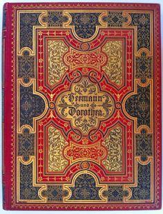 Hermann und Dorothea by Goethe, München: Verlagsanstalt für Kunst und Wissenschaft, vormals Friedrich Bruckmann c1900 - Beautiful Antique Books