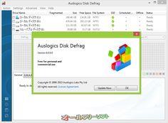 AusLogics Disk Defrag 6.0.0.0   AusLogics Disk Defrag--バージョン情報--オールフリーソフト
