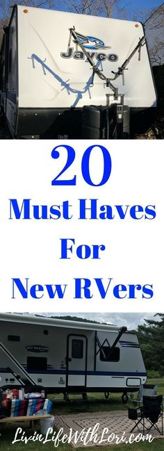 Check out these 20 Must Haves you need for camping in your new RV! #RV#camping#RVcamping#musthaves