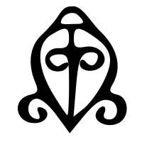 "Africa- adinkra, odo nyera fie kwam ODO NYERA FIE KWAM means ""love never loses its way home"" and its related meaning is:  ""the power of love"""