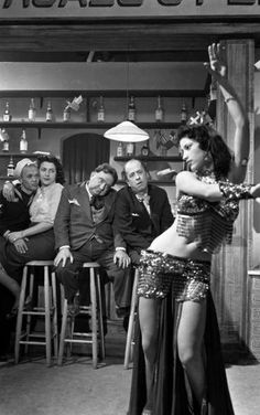 "BOUBOUKA PAPPAS, Greek Belly Dancer Dancer, from the 1956 film Laskou Orestes, ""The Unknown."""
