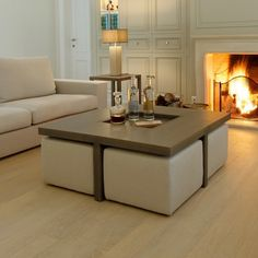 1000 ideas about table basse avec pouf on pinterest - Table de salon avec pouf ...