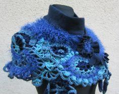 Bohemian Wear Shawl Freeform Crochet Shrug Bolero by MARTINELI
