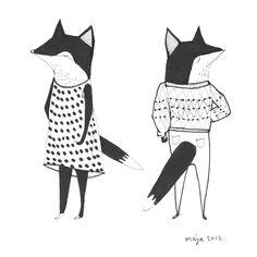 rävar Foxes, Cute, Prints, Design, Pictures, Kawaii, Fox
