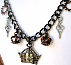 Jewelry Triple Crown Charm Necklace with by AccessoryShowcaseNY