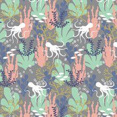 Hawthorne Threads - Mariner - Shallows in Smoke  #MarinerFabric