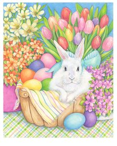 Easter Art, for 2015 on Behance Easter Art, Easter Crafts, Easter Eggs, April Easter, Happy Easter Pictures Inspiration, Easter Bunny Pictures, Easter Illustration, Bunny Painting, Easter Wallpaper