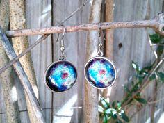 Galaxy Earrings by FeathersandStars on Etsy