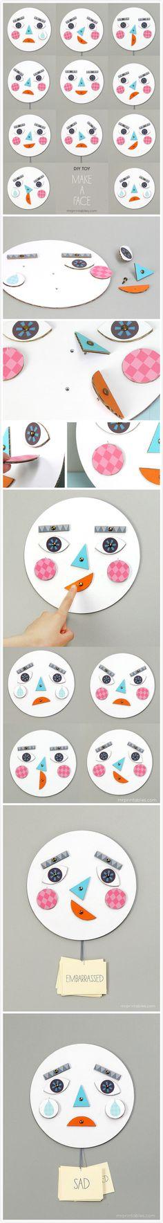 跟孩子一起玩:做脸谱来学表情! 公众号:家庭手工乐园