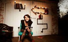 Artesanato Casa e Dicas: Canos de aço e pedaços de madeira se transformam e...
