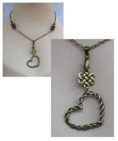 Burnished Gold Celtic Knot Heart Pendant Necklace  http://cgi.ebay.com/ws/eBayISAPI.dll?ViewItem=151031260119