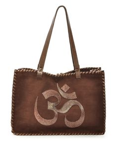 Another great find on #zulily! Carla Mancini Brown Om Nubuck Tote by Carla Mancini #zulilyfinds
