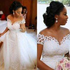 Long Sleeve Wedding, Long Wedding Dresses, Bridal Dresses, Wedding Gowns, Wedding Veil, Dream Wedding, Prom Dresses, Detachable Wedding Dress, Ivory Wedding