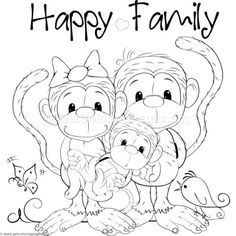 Cute Monkey 7 Coloring Pages