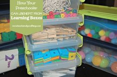 How Your Preschooler Can Benefit from Learning Boxes www.teachersofgoo...