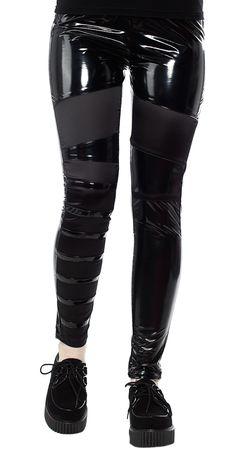 Black Mesh taille haute Panel Leggings