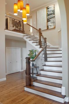 Minwax Special Walnut On Floors And Dark Walnut On Staircase.