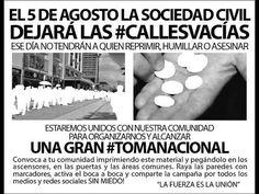 Venezuela 05 agosto 15 Calles Vacias