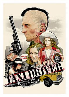 Taxi Driver Movie Poster, available at 45x32cm.This poster is printed on matt coated 350 gram paper.
